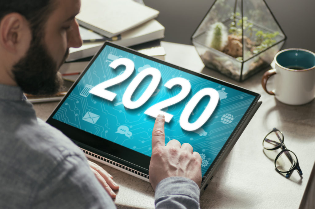 New 2020 year in modern technologies.
